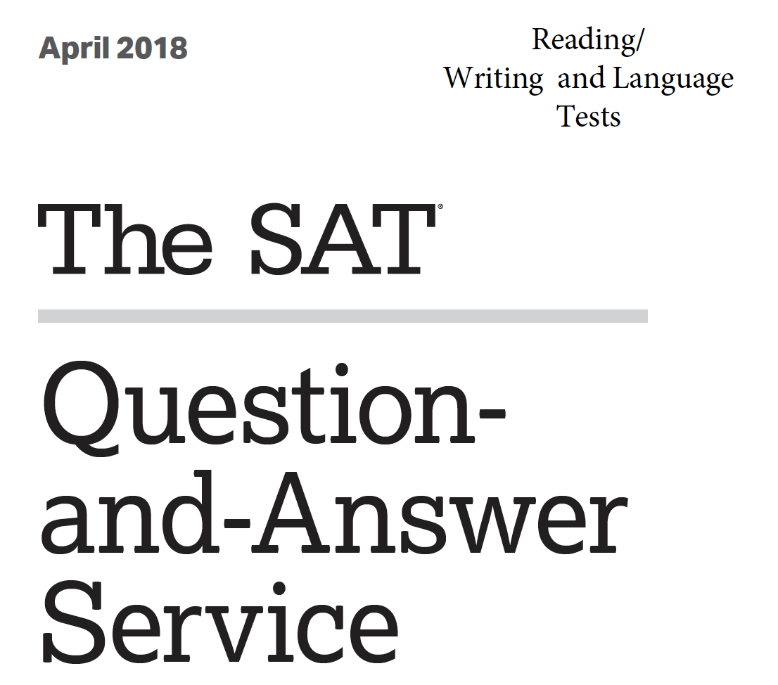 April 2018 SAT Test - Reading - Writing and Language