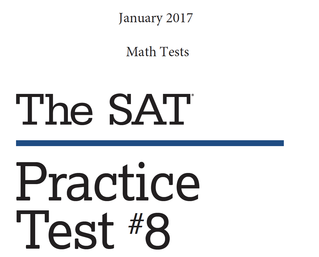 January 2017 SAT Test - Reading - Writing and Language Tests