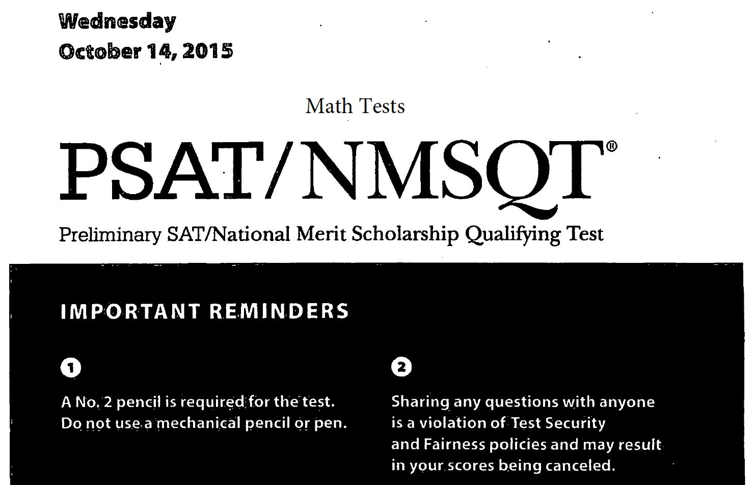 October 2017 PSAT Test - 10-11-2017