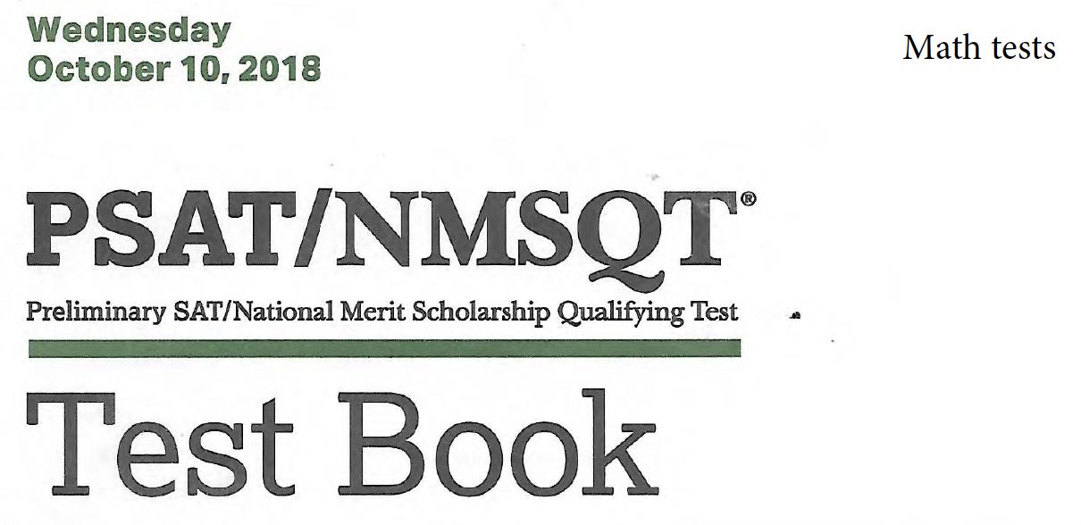 October 2018 PSAT Test - 10-10-2018 - Math tests