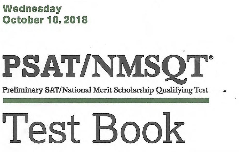 October 2018 PSAT Test - 10-10-2018