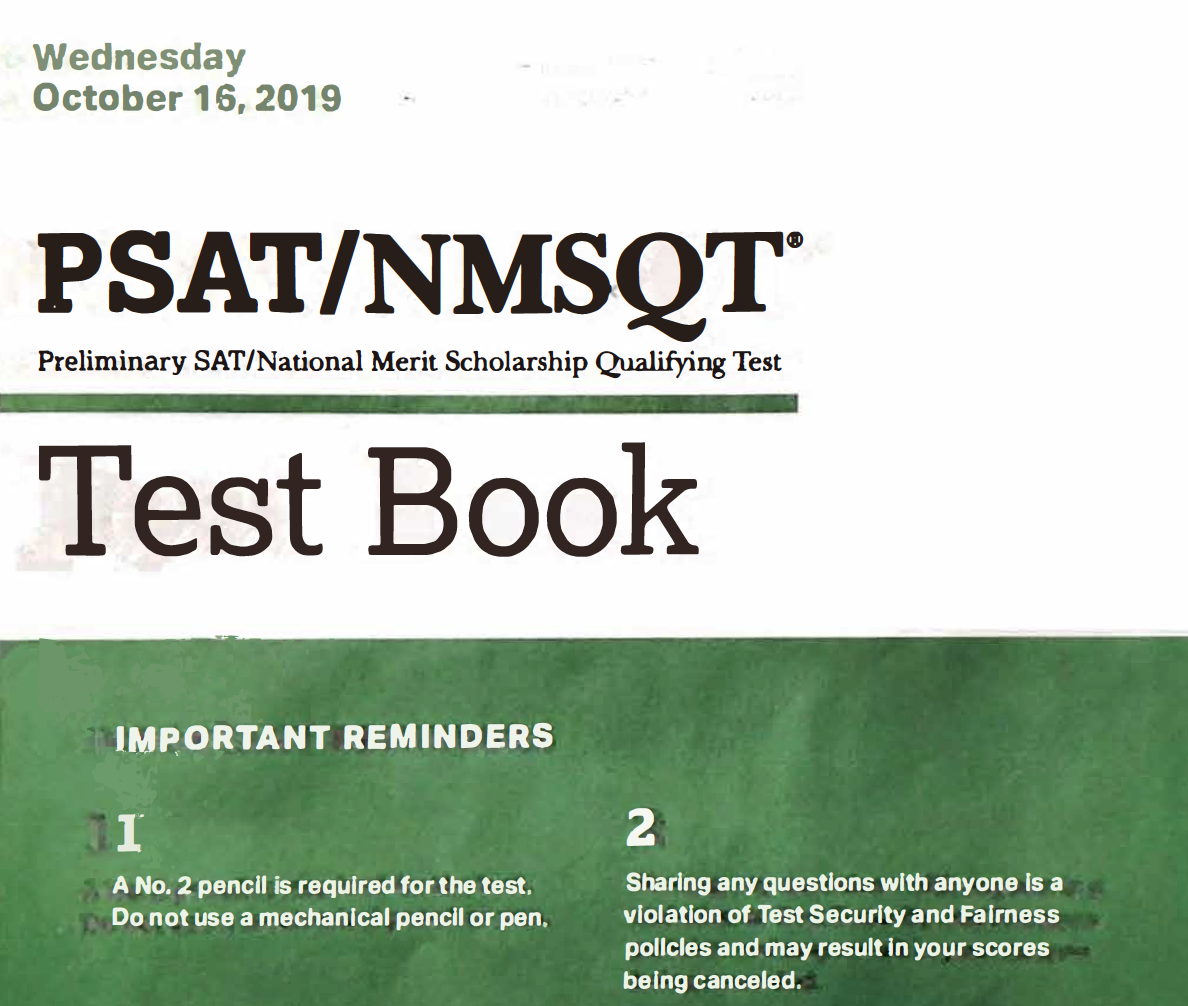 October 2019 PSAT Test - 10-16-2019